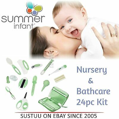 Summer Infant Nursery and Bathcare Kit│Kid's Hygiene Care & Grooming Set│24pc│