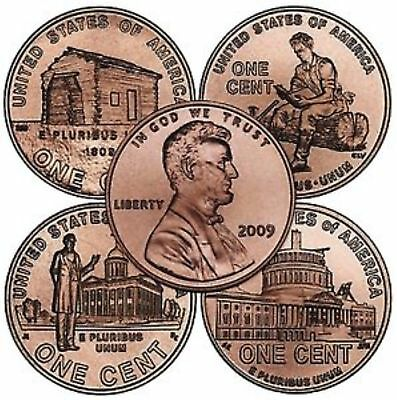 2009-D  LINCOLN SET  4 BU COINS  (1 year only issue)