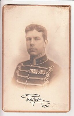 Autograph: Crown Prince Gustav XI. Adolf of Sweden - cabinet photo - 1920 signed