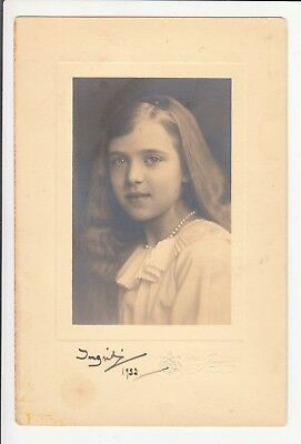 Autograph: Princess Ingrid of Sweden - Queen of Denmark - RARE signed 1922 photo