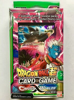 SPECIAL PACK SET DRAGON BALL SUPER CARD GAME DBS BT3 CROSS WORLDS sealed english