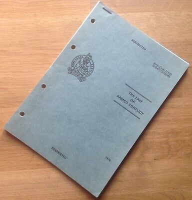 Original 1978 British Army Training Manual: The Law Of Armed Conflict