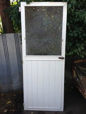 Old TIMBER SECURITY FLY SCREEN Flywire DOOR 762 X 1990 Shed Fly wire house barn