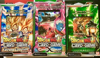 LOT DECK DRAGON BALL SUPER CARD dark invasion+the extreme evolution+special pack