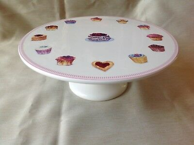 28cm Cake Stand/Footed Cake Platter Cup Cake Design 'High Tea'