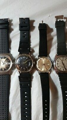 Vintage Lot Of 4 Timex Watches All Working Order