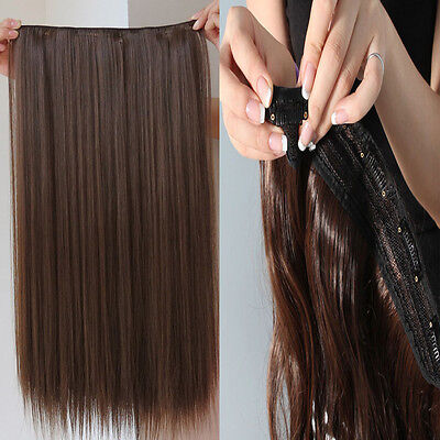 One Piece Clip In Remy Hair Extensions 100% Human Hair & Hair Pieces 20""