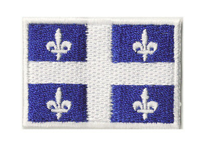 Ecusson petit patch patche thermocollant Quebec Québec 45x30 mm