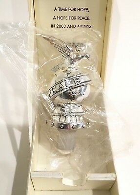 Neiman Marcus Dove Of Peace Silver Plated Wine Bottle Stopper Sealed IOB