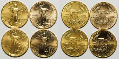 Five American Eagle 1/2 Ounce Gold Pieces Lot 1082
