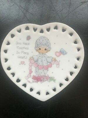 1993 Precious Moments Heart mini Plate You Have Touched So Many Hearts