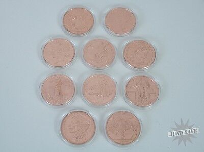 All 10 Zombucks Copper Zombie Coins Early Die Strikes In Capsules [Js10496]