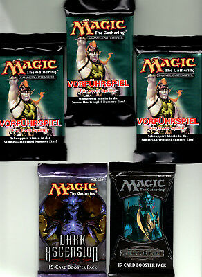 5 MAGIC Booster-Pack deu & engl. = alle NEU & OVP