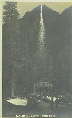 C.1910-20 RPPC Camp Curry's Fire Fall Vintage Postcard P101
