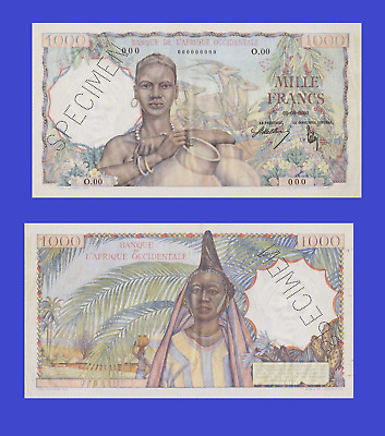 French West Africa 1000 francs 1944  UNC - Reproduction