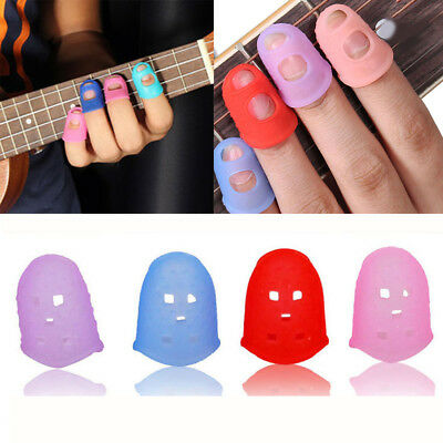 UK 4-20x Guitar Fingertip Protectors Finger Guards For Ukulele Guitar Accessory