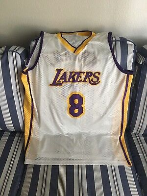 297d981f0 Rare Kobe Bryant  8 White Home Los Angeles Lakers Jersey Xl Retirement