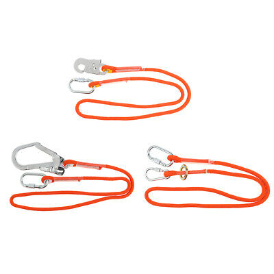 Orange Climbing Arborist Fall Arrest Safety Lanyard with Snap Hook Carabiner
