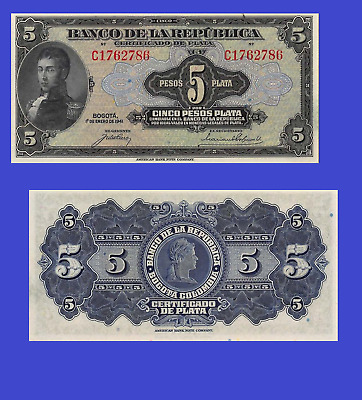 Colombia 5 peso 1941 UNC - Reproduction