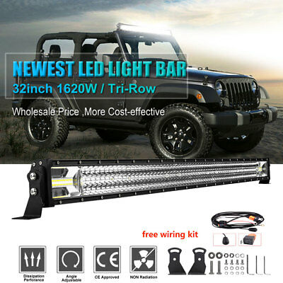 32inch 1620W LED Work Light Bar Combo Offroad 4WD Truck Boat SUV 4WD Fog Driving