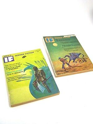 Two Vintage 1967 IF, WORLDS OF SCIENCE FICTION Magazine, Philip Jose Farmer