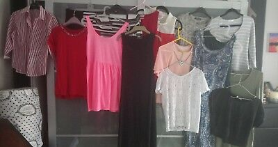 Ladies Clothes bundle size 10 - 12 dresses, skirt, tops and jumpers 17 items