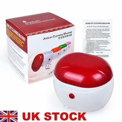 Dentures Jewellery Cleaner Ultrasonic Ring Watch Dentures Coin Cleaning BOX *J