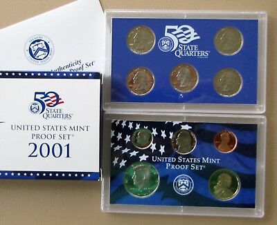 2001 US Proof Set w/ Quarters - Low COMBINED Shipping - No Reserve