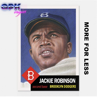 2018 Topps Living Set #42 Jackie Robinson Brooklyn Dodgers Retro 1953 Style