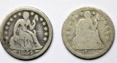 TWO Seated Liberty Dimes, 1854 G & 1854-O VG  No reserve
