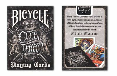 Bicycle Club Tattoo Deck Playing Cards Chester Bennington Linkin Park Dowdell