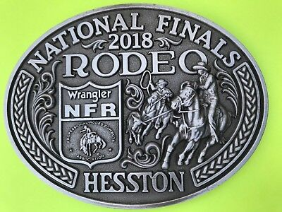 NEW! 2018 Hesston National Finals Rodeo Belt Buckle