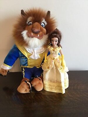 Disney Beauty and the Beast Doll/Teddy/Soft Toy. BELLE AND BEAST