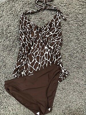 Blooming Marvellous Brown  Maternity Tankini And Bottoms Size 12