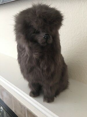 Vintage Poodle Made From Rabbits Real Fur Stuffed Animal