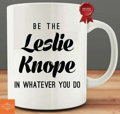 Be The Leslie Knope Coffee Mug Tea Cup Gift Best Gift. Leslie Knope Personalised Card Parks And Rec Recreation