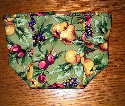 Tall Tissue Basket Liner from Longaberger Napa orchard fabric! New! Artistic!
