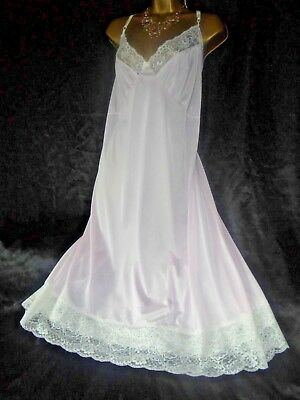 Stunning vtg  silky nightie dress slip negligee nightdress  chest 60  sz 30/32