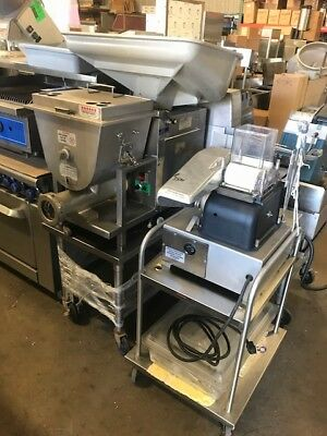 Hollymatic Meat Grinder and Patty Machine Set,