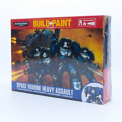 Revell 00080 - Warhammer 40000 - Build + Paint - Space Marine Heavy Assault Neu