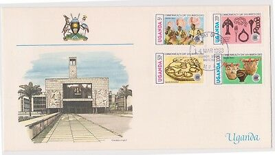 (K85-84) 1983 UGANDA FDC 175/. 4stamps Commonwealth Day (CE)