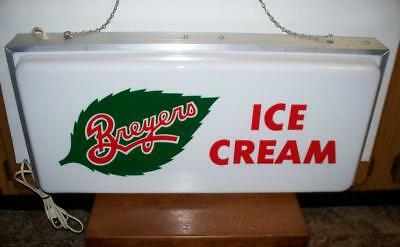 Vintage Breyer's Ice Cream Light Up Sign - Country Store