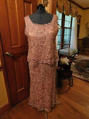 Beautiful Vintage Silk Mother Of The Bride-Groom-Special Formal Occ Gown Sz 1X