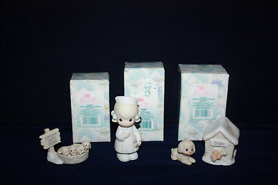 Precious Moments Sugar Town 3 Figurines For The Doctors Office Collection Enesco