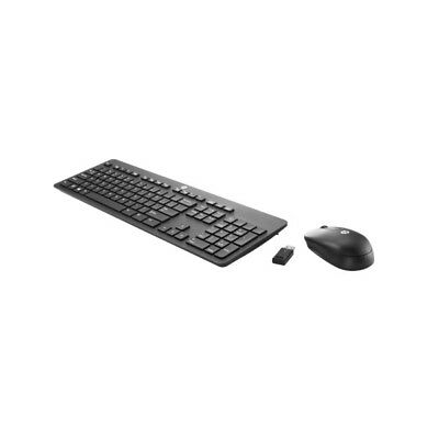 HP Slim Wireless Keyboard and Mouse 2.4GHz Wi-Fi Connectivity 10m Range T6L04AA