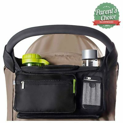 Prams BEST STROLLER ORGANIZER For Smart Moms, Premium Deep Cup Holders, Storage