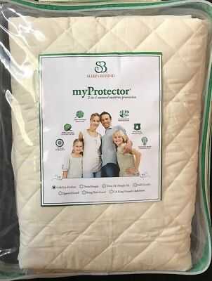 Sleep & Beyond myProtector CRIB Mattress Pad Cover Cotton Wool Retail $139