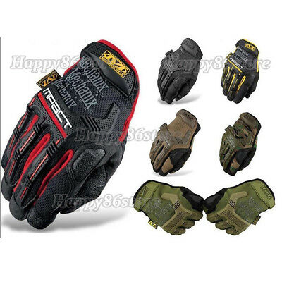 'Mechanix M-PACT Finger Tactical Gloves Military Bike Race Sport Paintball Army