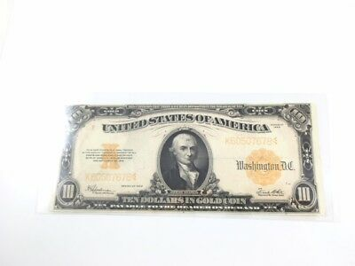 Full Color 1922 $10 Gold Certificate
