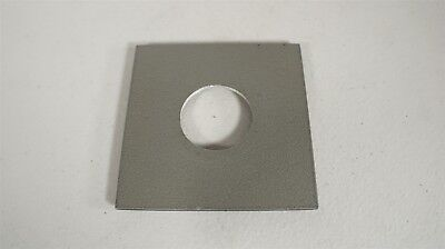 """Unbranded Metal Lens Board-Approximately 4 x 4"""" with 1 1/2"""" Lens Opening"""